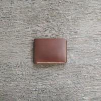Dompet Kulit Pria Bifold Vegetable Leather (Free Key Chain)