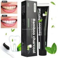 OMWshop Bamboo Activated Charcoal Teeth Whitening Toothpaste