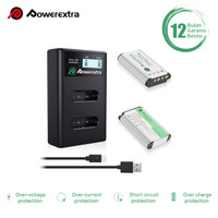 Powerextra Battery (2-Pack) and Dual USB Charger for Sony NP-BX1