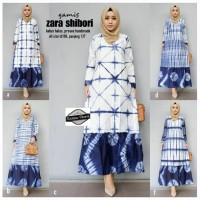 Gamis Zara Shibori Dress Muslim Batik Panjang Modern Cantik Hits BGT