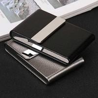 Kotak Wadah Bungkus Rokok Elegan Leather Cigarette Case