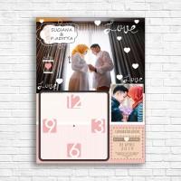 hiasan jam meja - dinding kado wedding foto hadiah pernikahan