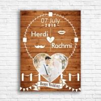 wedding gift jam meja - dinding kado wedding foto hadiah pernikahan