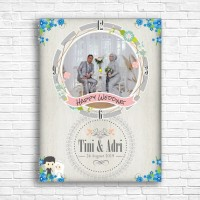 jam wedding meja - dinding kado pajangan foto hadiah pernikahan unik