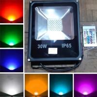 Lampu Sorot 30w Floodlight Led Taman Tembak RGB Warna Warni 30 w watt