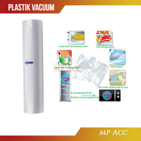 Kantong Plastik Mesin Alat Vacuum Sealer Storage Bag 20x500cm 1 Roll