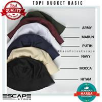 Topi Bucket Polos Bahan Baby Kanvas Premium