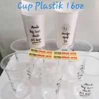 Cup Plastik Sablon 1 Warna 16 oz Di Pekanbaru