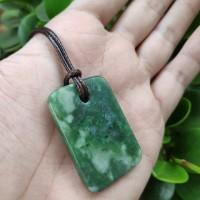 Liontin nephrite jade giok aceh bentuk persegi panjang