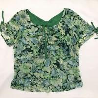 preloved floral print kawai top / atasan blouse korean look murah