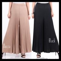 Promo Celana Panjang Kulot Plisket Lipit Prisket Plited Pants Bast Qua