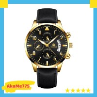 Jam Tangan Pria Kulit Import Shaarms Business Wrist Watch For Men