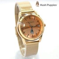 jam tangan HUSH PUPPIES WANITA RANTAI PASIR GOLD ROSE BLUE