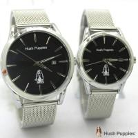 jam tangan HUSH PUPPIES COUPLE RANTAI PASIR SILVER BLACK ROSE