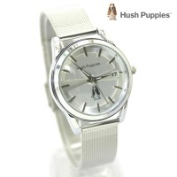 jam tangan HUSH PUPPIES WANITA RANTAI PASIR SILVER BLACK ROSE