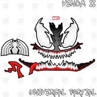 Sticker Decal Helm Venom II for Universal Helm