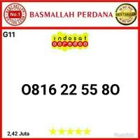 Nomor cantik IM3 10 Digit Urut Aabb 2255 0816 22 55 80 g11r9