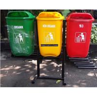 Pusat Tempat Sampah Tiga Warna Organik Non Organik & B3