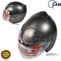 Helm Motor SNI Centro Grey doff Bukan ink basic