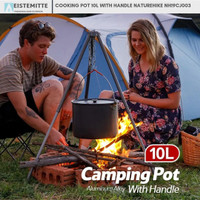 Panci Masak Camping Bentuk POT Dengan Handle Ukuran 10L Naturehike