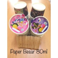 Paper cup es krim 80 ml