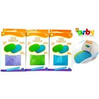 IQ Baby Bath Mat (Alas Karet Bak Mandi Bayi / Anak) - Anti Slip - Hijau