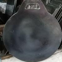 wajan/loyang/kuali martabak telur plat besi baja tebal 30 cm