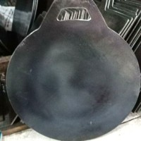 wajan/loyang/kuali martabak telur plat besi baja tebal 35 cm