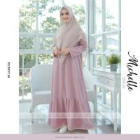 Gamis syari/busana muslim wanita Michelle by jasmine size L-XXL busui