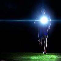 EMI4 Lampu Malam Berjalan Lampu Peringatan Dada LED Hiking Senter