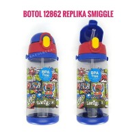 Botol 12862 Replika Smiggle Smigle Smigel Minum Anak Sedotan bekal