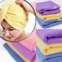 Hair Wrap Magic Towel Handuk Penyerap Air Bath Microfiber Rambut Head