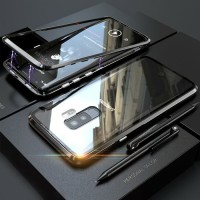 Luxury Magnetic Case Samsung Galaxy A6 Plus A6Plus A6  Metal Glass