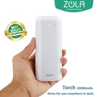 Zola International Torch Powerbank 10000 mAh - White