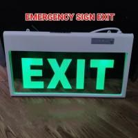 LAMPU EXIT LED EMERGENCY TRANSPARAN LED HIJAU / SIGN DARURAT