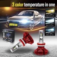 Lampu Led Mobil Headlamp Mobil H4 50 Watt Zes Chips Original A00053