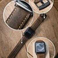 Apple Watch Strap Cracked Leather Coffee - Puton Aspro