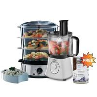 Russell Hobbs Aura Food Processor - Food Steamer FREE PURA Seasoning
