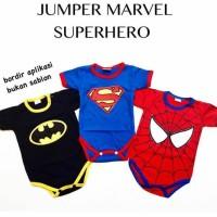 Hot Produk Baju Jumper Superhero Spiderman Superman Anak Bayi Laki