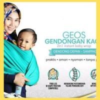 Original Geos Gendongan Kaos Little Hippo 2 In 1 - Gendongan Kaos