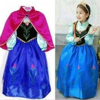 PALINGLARIS Baju Dress Kostum Anna Frozen Jubah Merah Best Seller!