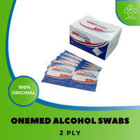 Alcohol Swab OneMed 2 Ply