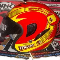 helm MDS pro d one motif spains Spanyol red yellow helm double visor