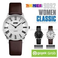 SKMEI Jam Tangan Wanita Cewek Kulit Leather Casio Casual 9092 9092CL