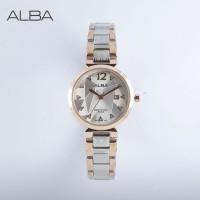 jam tangan ALBA WANITA MOTIF KACA PECAH ROSE GOLD SILVER BLACK