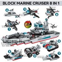 PAKET Block Qman Marine Cruiser Transform Pesawat Kapal Lego 8in1 1411