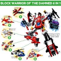 PAKET Block Qman Warrior of the Damned Pesawat Robot Lego 6in1 1405
