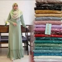gamis jersey zoya / baju muslim wanita