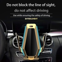 P10 Wireless Car Charger Air Vent Automatic Clamping Mount Holder 10W
