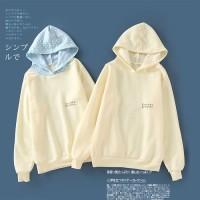 IJA-65 (M) yellow simple hoodie jaket tebal wanita import japan